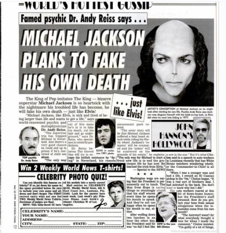 Michael Jackson plans to fake his own death
